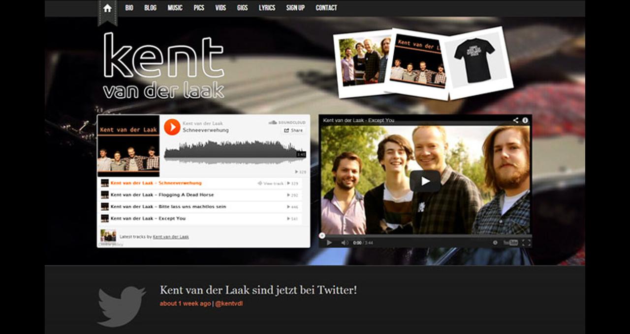Kent van der Laak: Website Aufbau